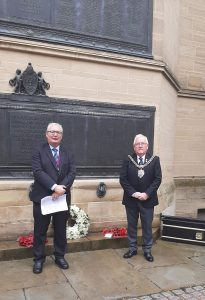 Sean Morris and Lord Mayor of Manchester
